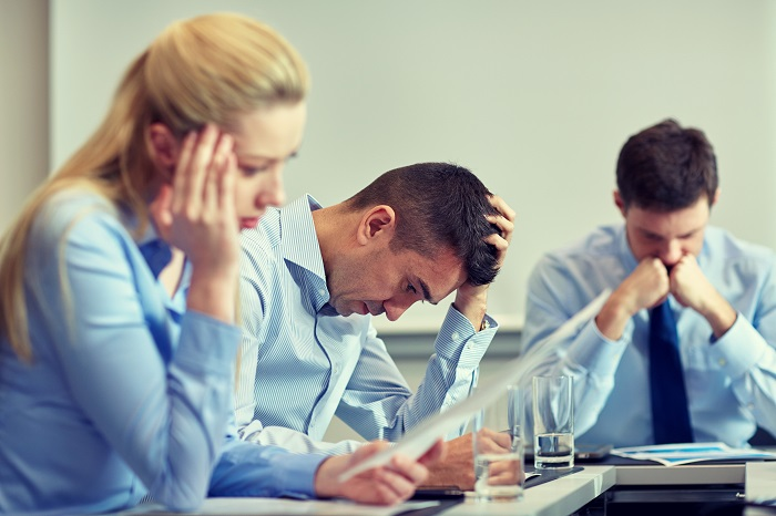 Young business people in distress