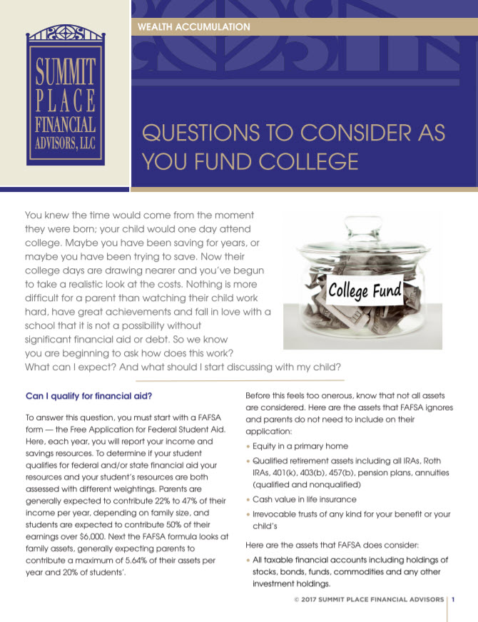College fund paper